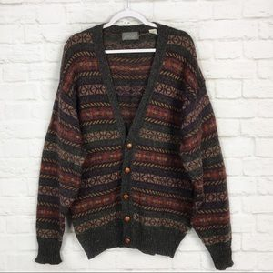 Lord+Taylor Kensington Collection Wool Cardigan L